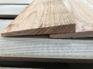Feather Edge Larch Cladding Sample